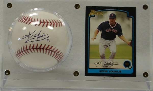 Kevin Youkilis Autographed Official Baseball With Rookie