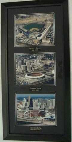 Sports Investments - Baseball - Crosley Field, Riverfront Stadium, Great American Ballpark collage