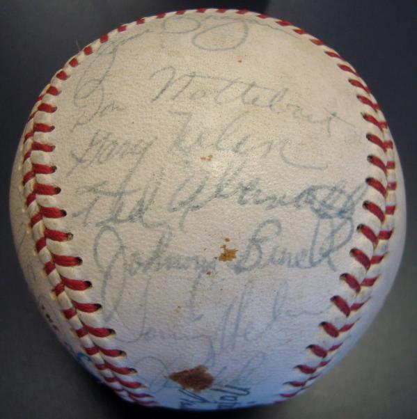 1967 Cincinnati Reds Team Signed ONL Baseball W/Rookie